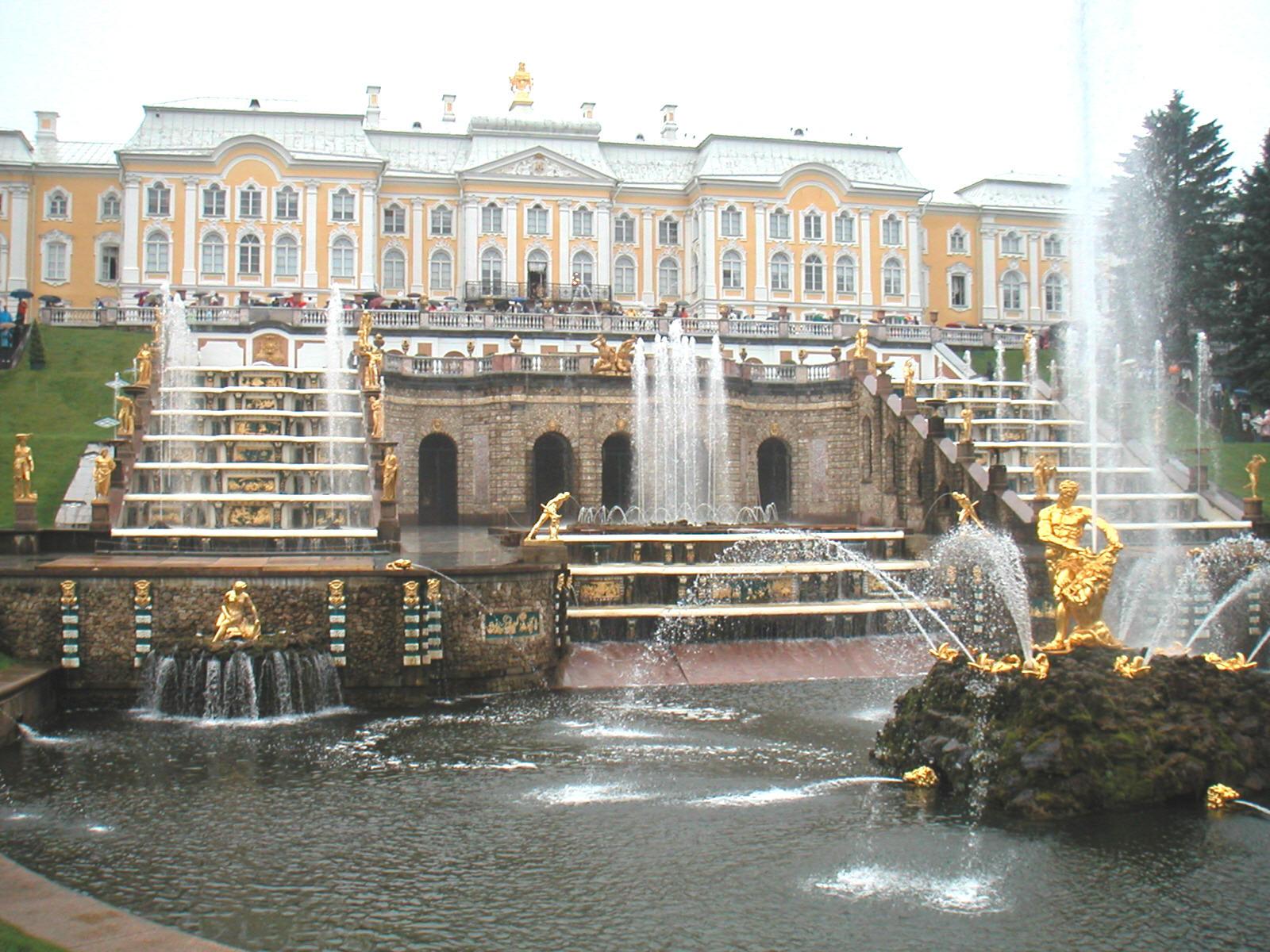 File st petersburg peterhof fountains