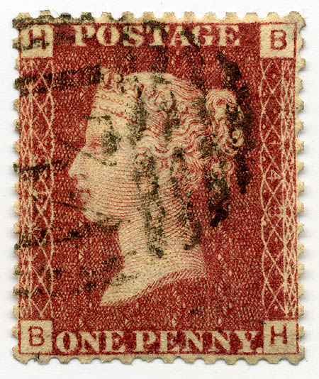 Stamp UK Penny Red pl148
