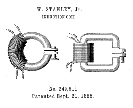 Stanley's 1886 design for adjustable gap open-core induction coils[111]