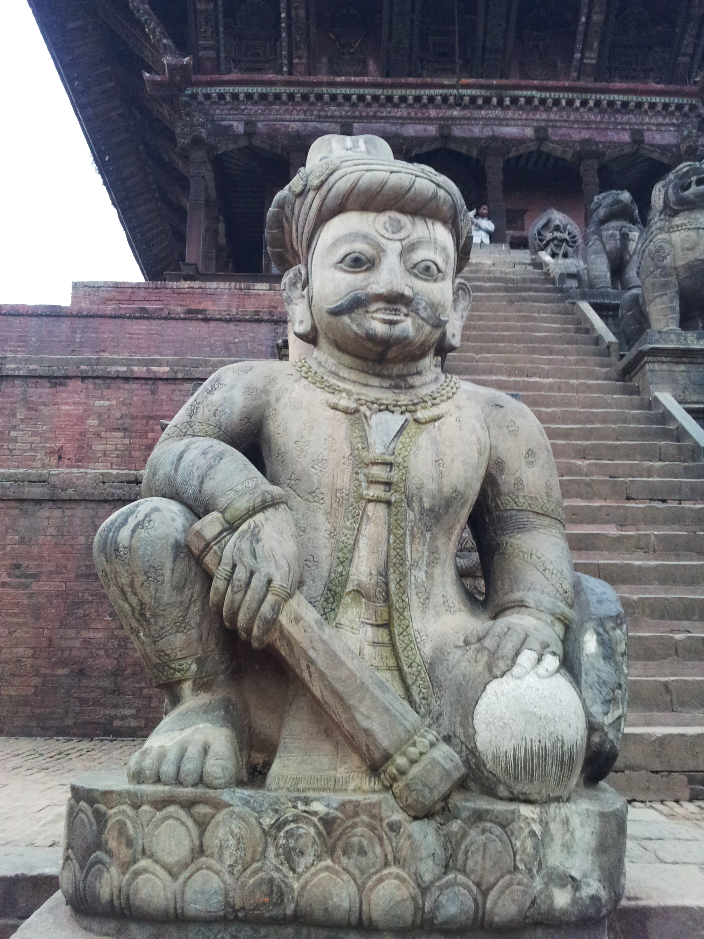 File:Statue of a wrestler at Nyatapola temple, Bhaktapur ...