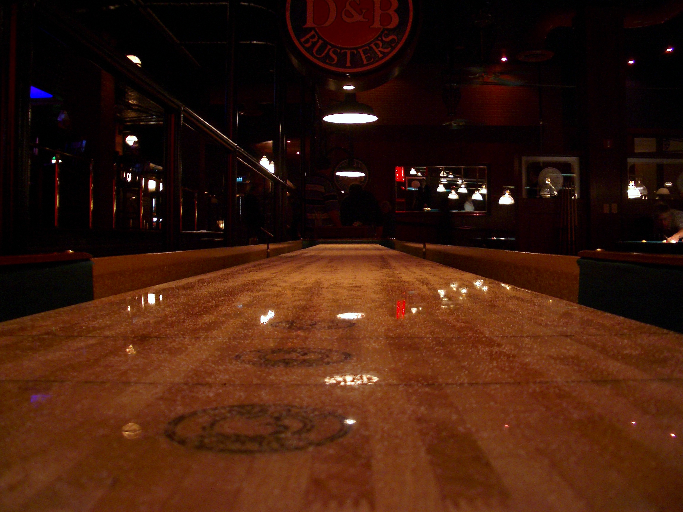 Superbe Pristine View From The End Of A Shuffleboard