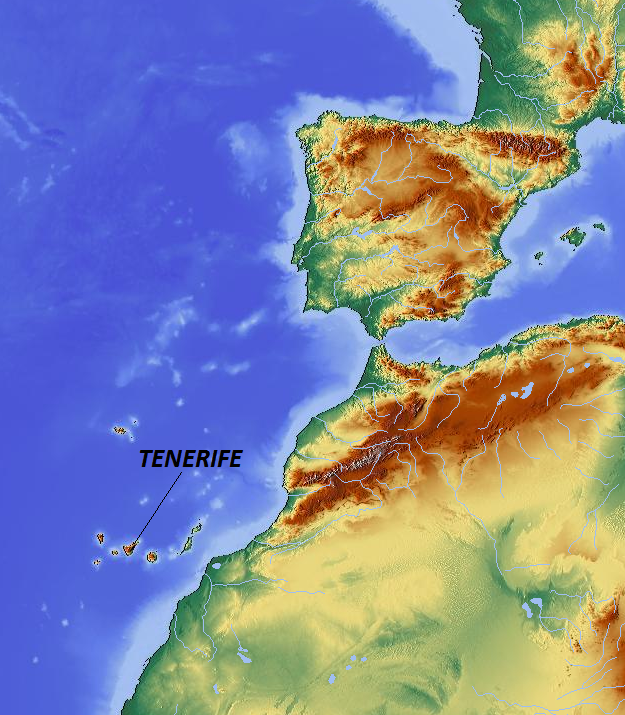 Tenerife Spain  city photo : Tenerife locator Wikimedia Commons