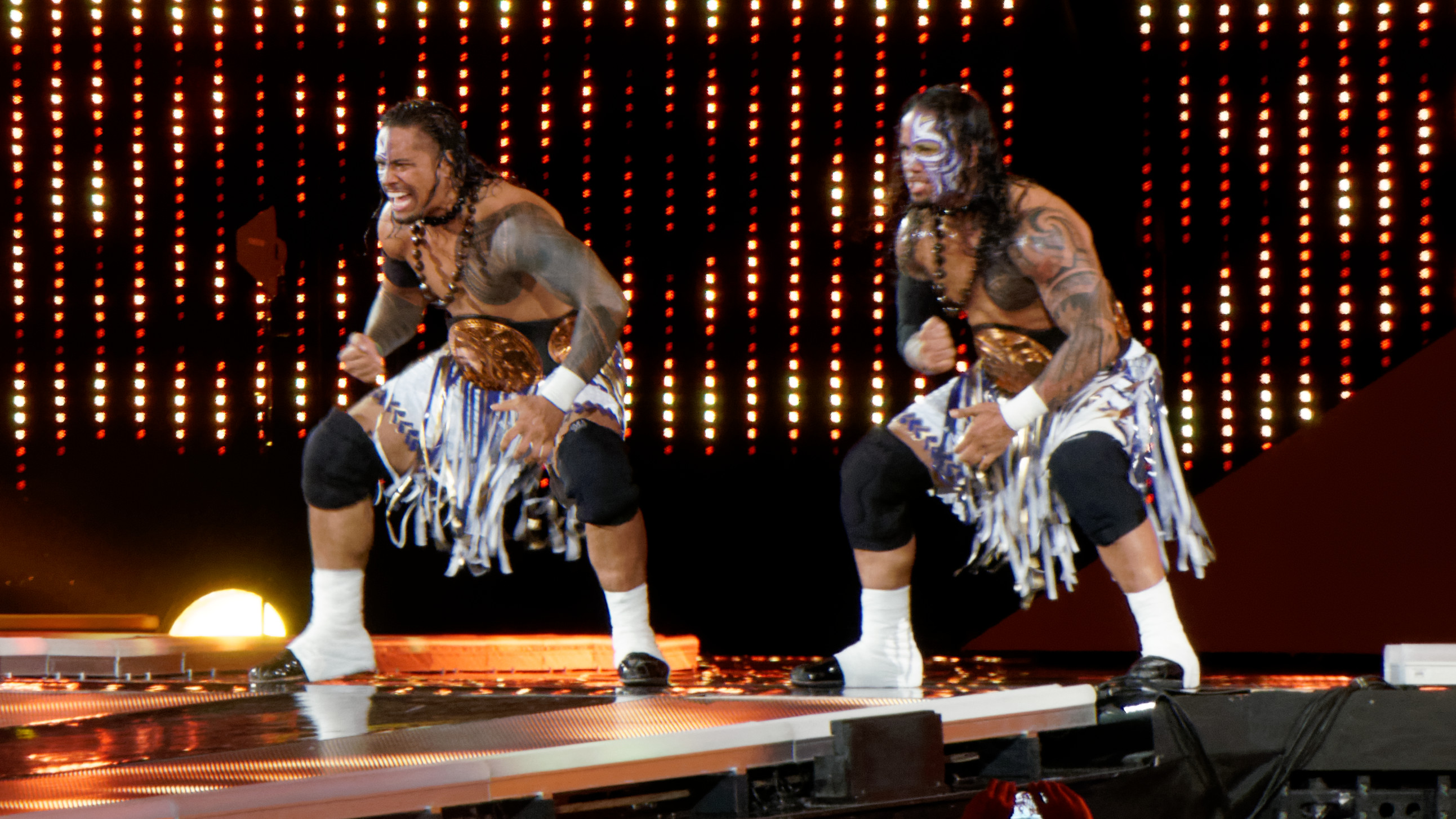 Wwe Layla And Jey Uso The usos performing the siva