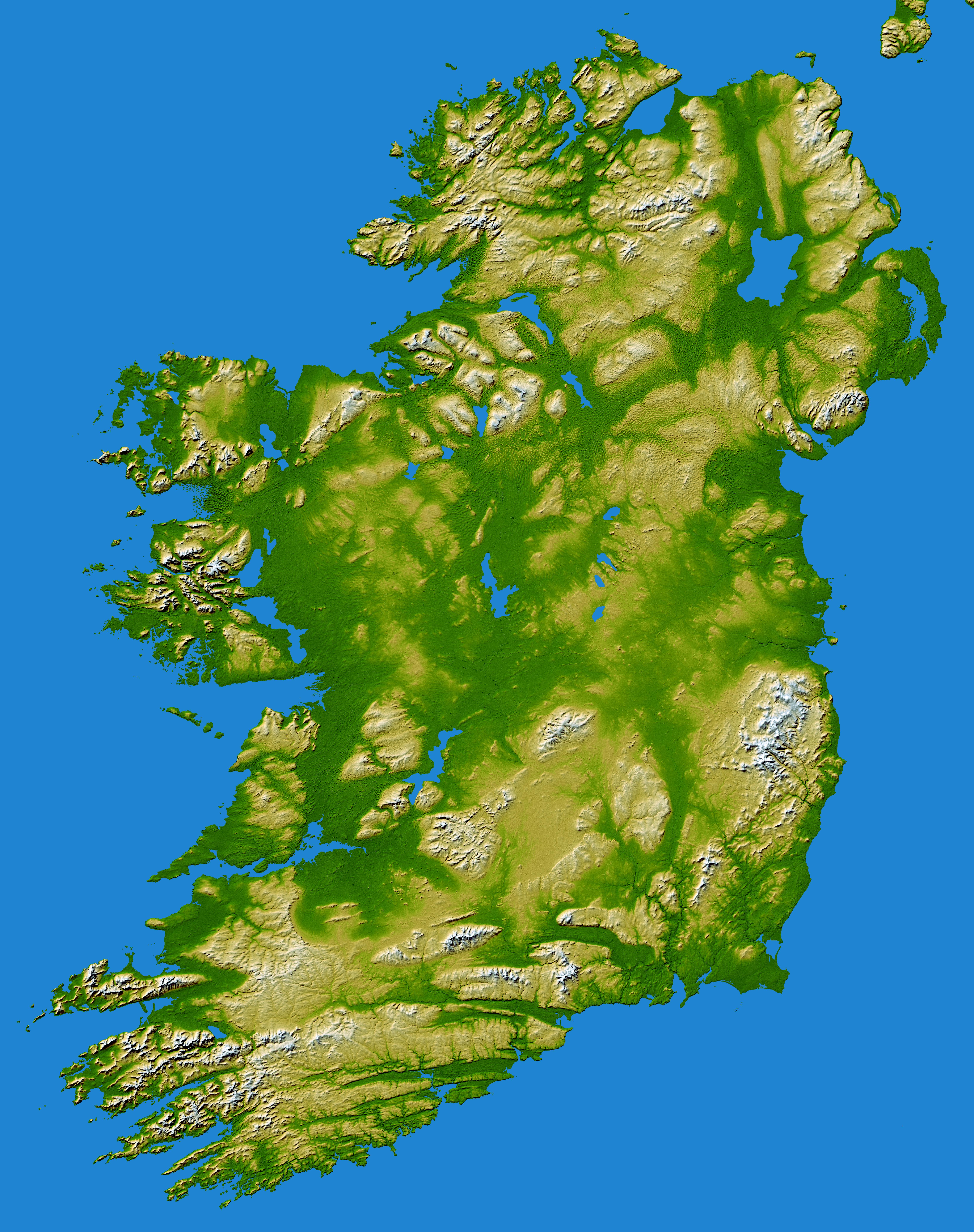 Map Of Irelands Mountains Boardsie - Map of ireland