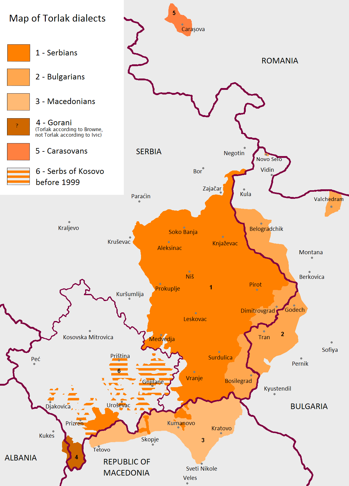 Gora Dialect Wikipedia - Kosovo map hd pdf