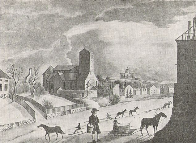 Turku in the winter of 1827, only a few months afterwards