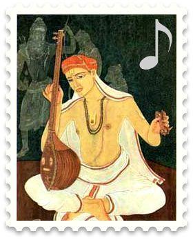 A portrait of Tyagaraja - One of the celebrated Carnatic trinity
