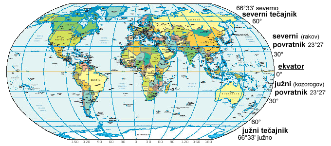 World Map Tropics