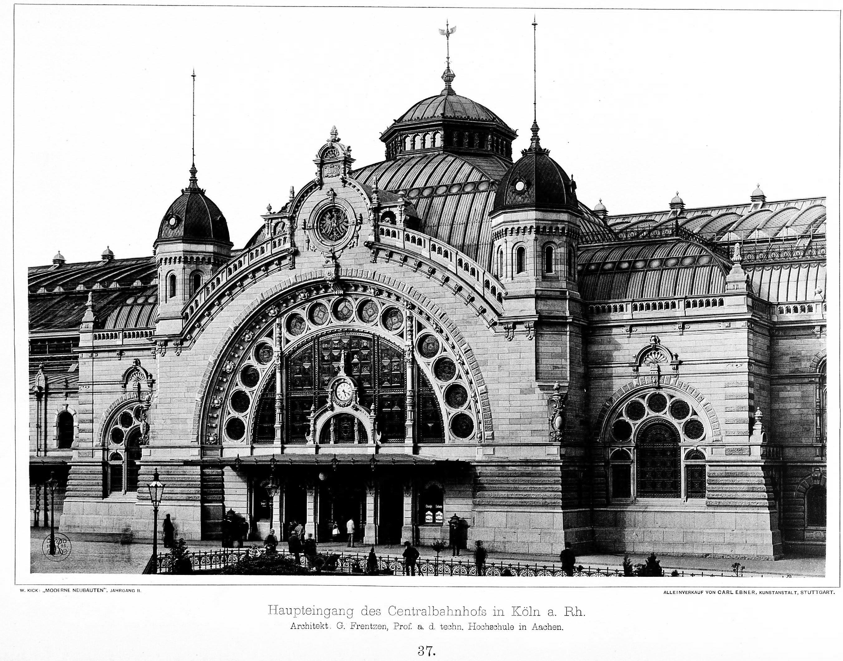Architekt Aachen file zentralbahnhof in köln am rhein architekt prof frentzen in