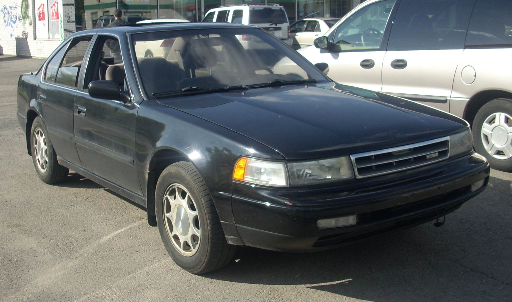 File 93 Nissan Maxima With 89 91 Grille Jpg Wikimedia
