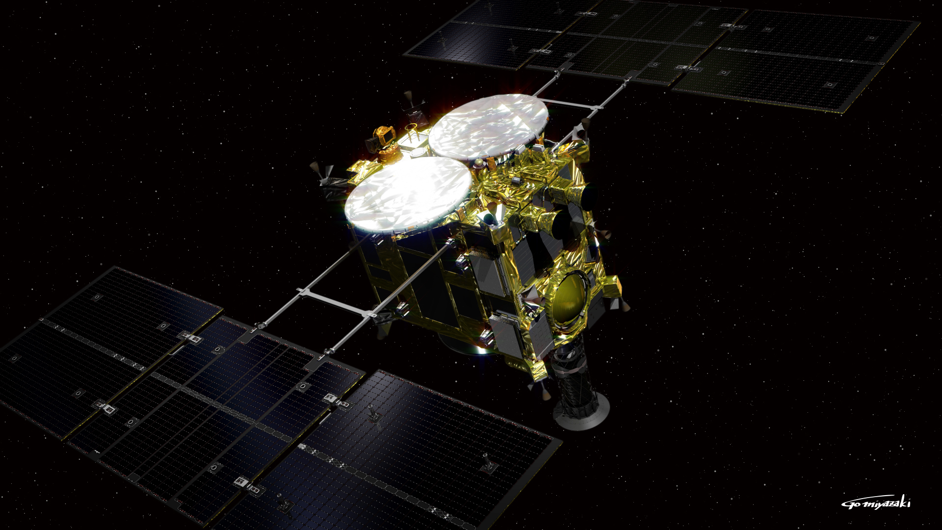 La sonde Hayabusa 2 (dessin)