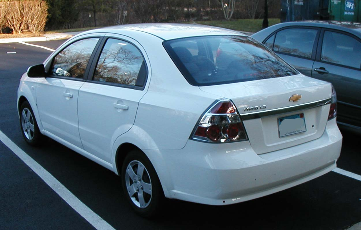 All Chevy chevy aveo 2007 : File:2007-Chevrolet-Aveo-rear.jpg - Wikimedia Commons