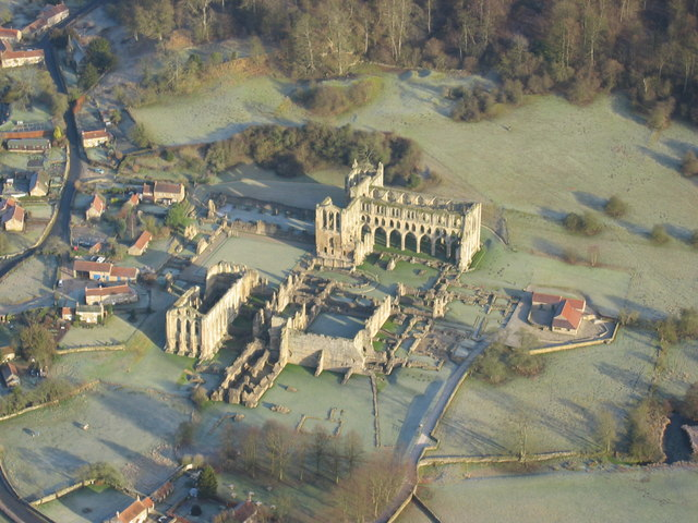File:Aerial shot of Rievaulx Abbey in winter - geograph.org.uk - 654091.jpg
