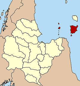Situation de Ko Samui dans la province de Surat Thani
