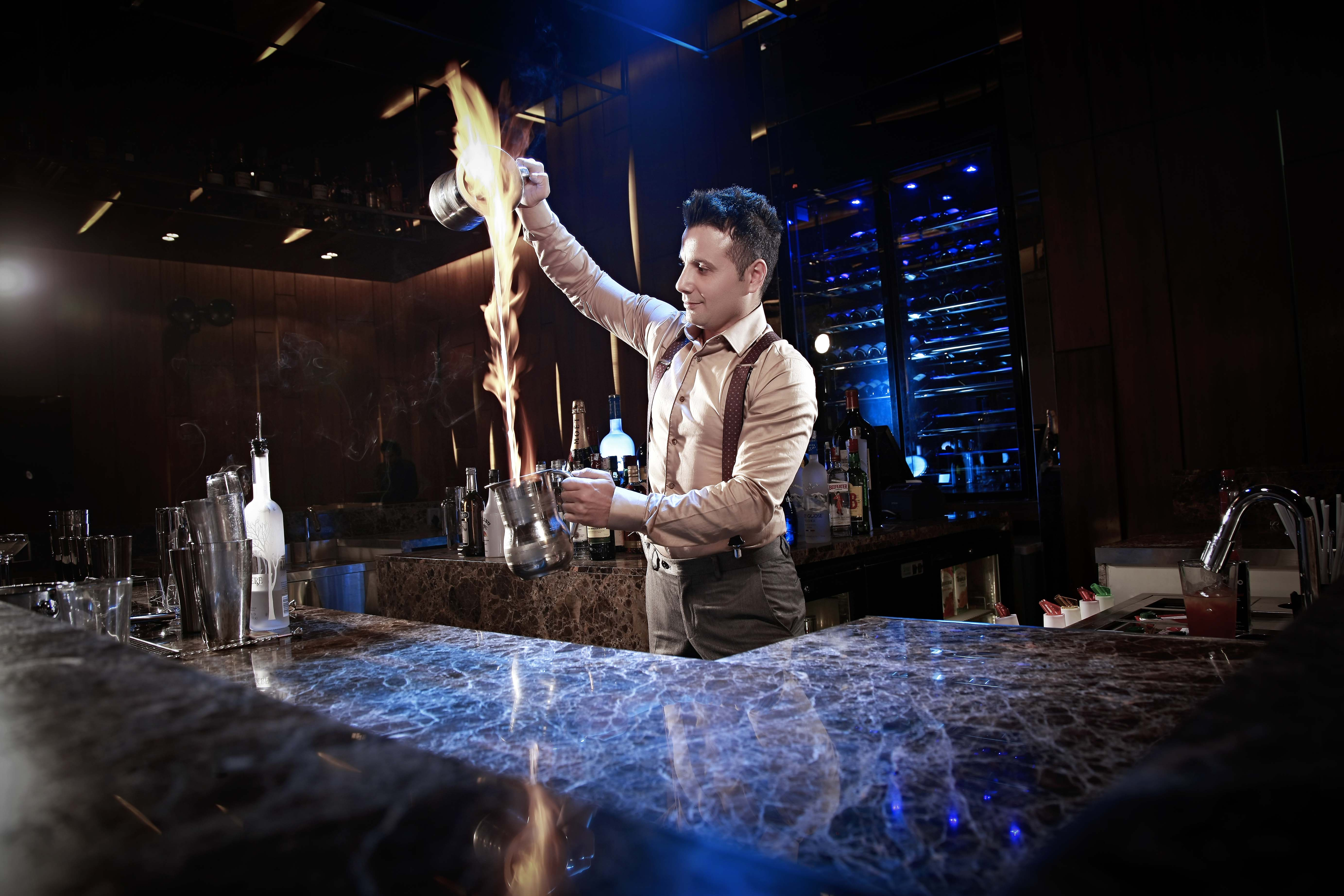 Slamming the bartender