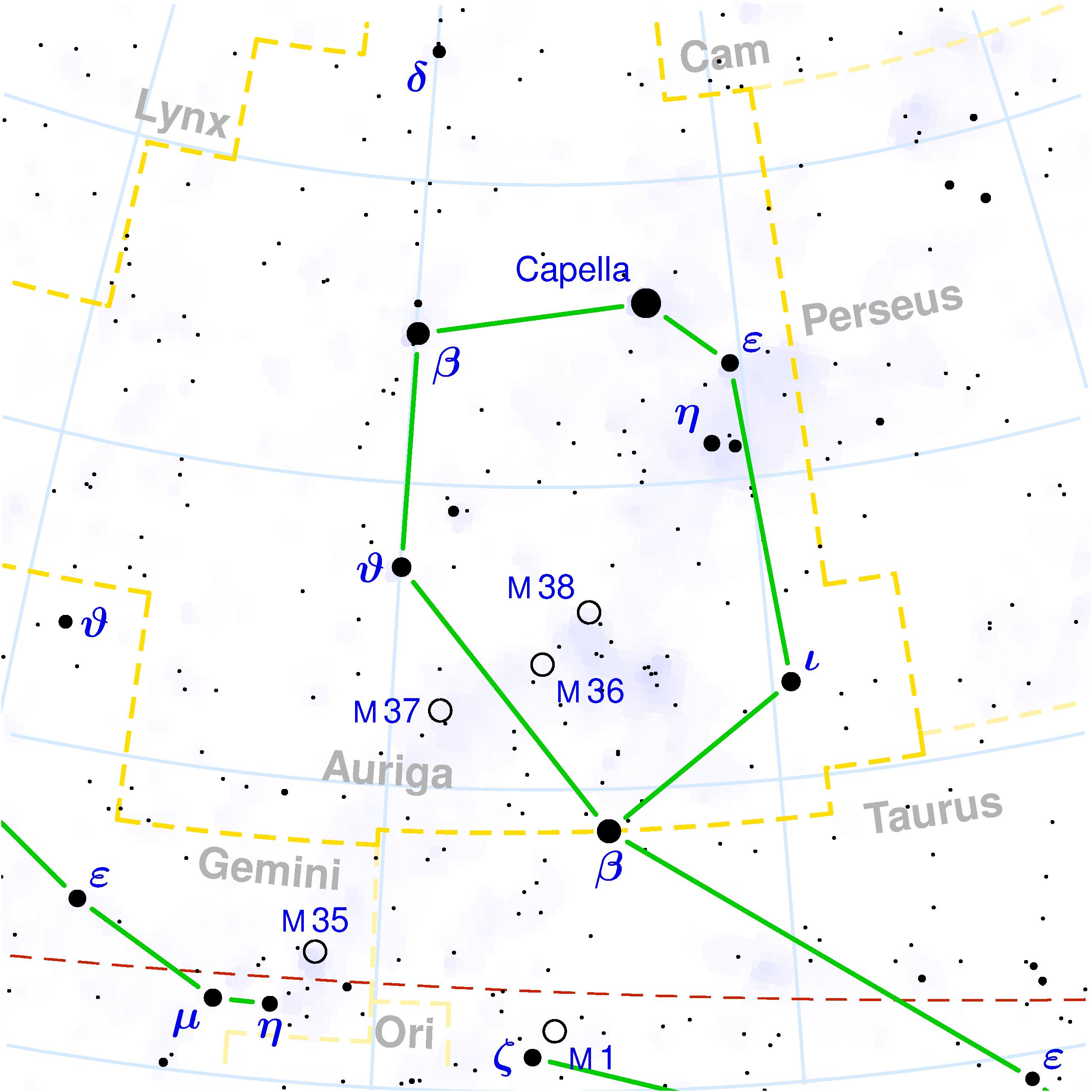 Auriga_constellation_map - Ngôi sao Capella