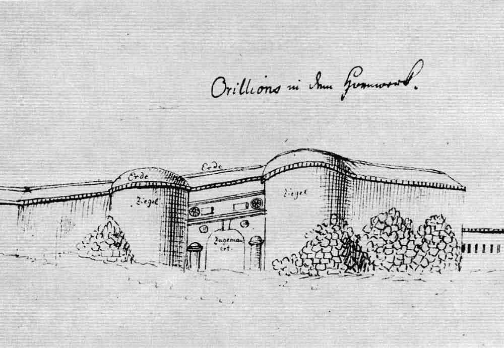 Belgrade Fortress Eastern Gate II drawing