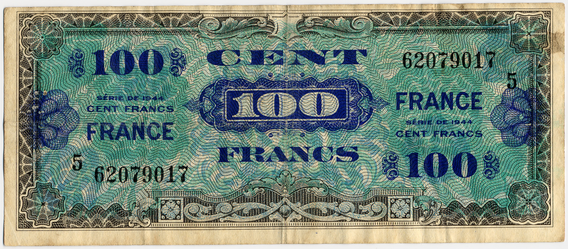 File Billet Drapeau De 100 Francs Recto Jpg Wikimedia