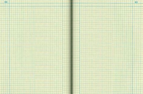 blank engineering notebook opened to page 62,63.