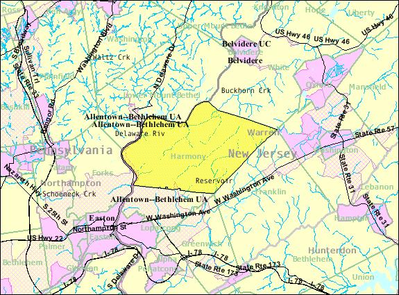 Census Bureau map of Harmony Township, New Jersey