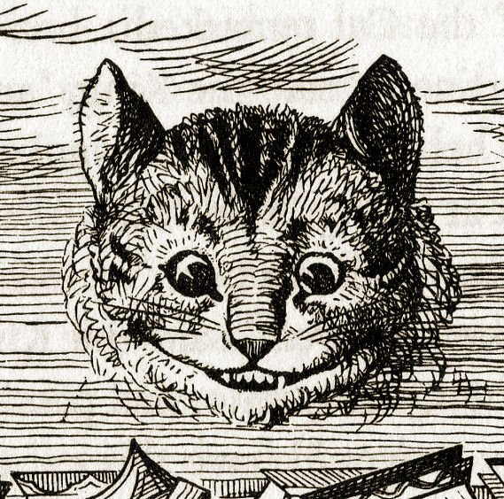 Cheshire Cat appearing (detail)