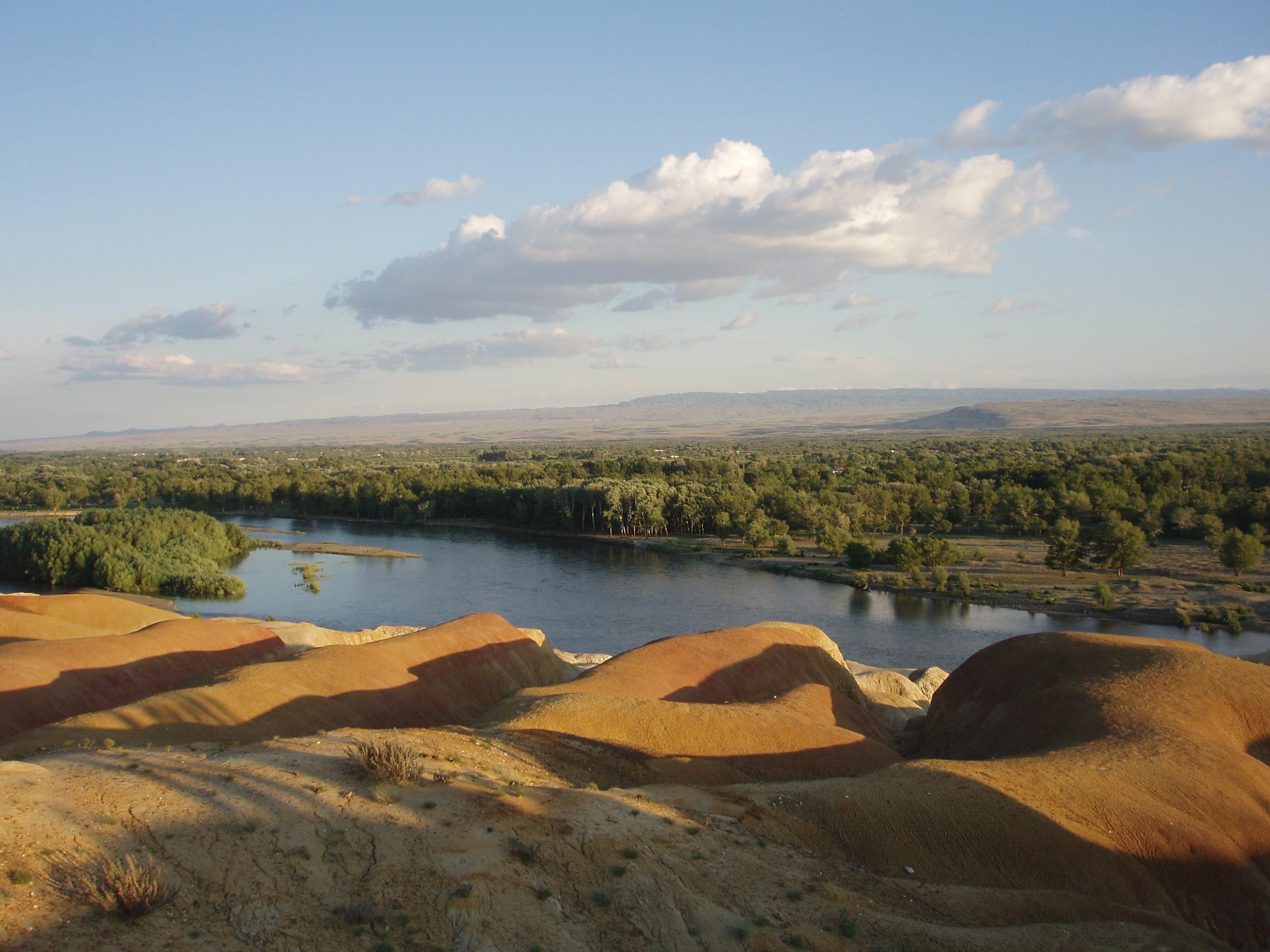 Black Irtysh river in Burqin County.