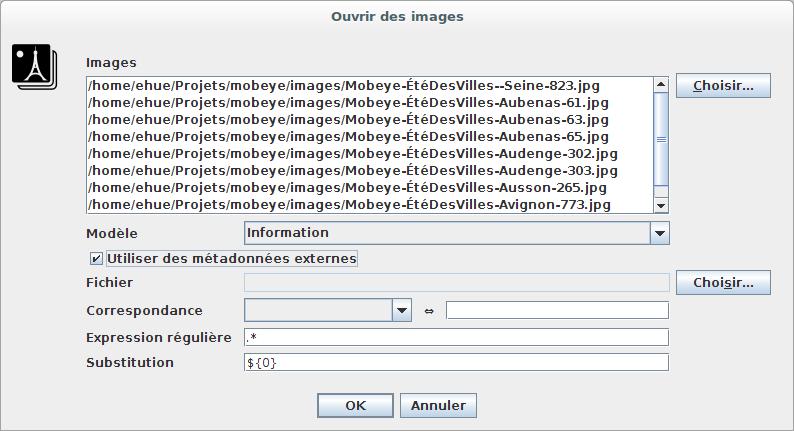 Activating external metadata usage.