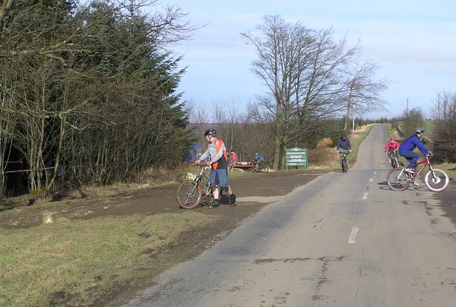 Downhill Mountainbikers, Windy Bank Road, Hamsterley Forest - geograph.org.uk - 329331