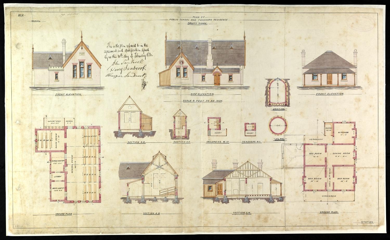 File Druitt Town Public School Plan 1879 3901874287 Jpg