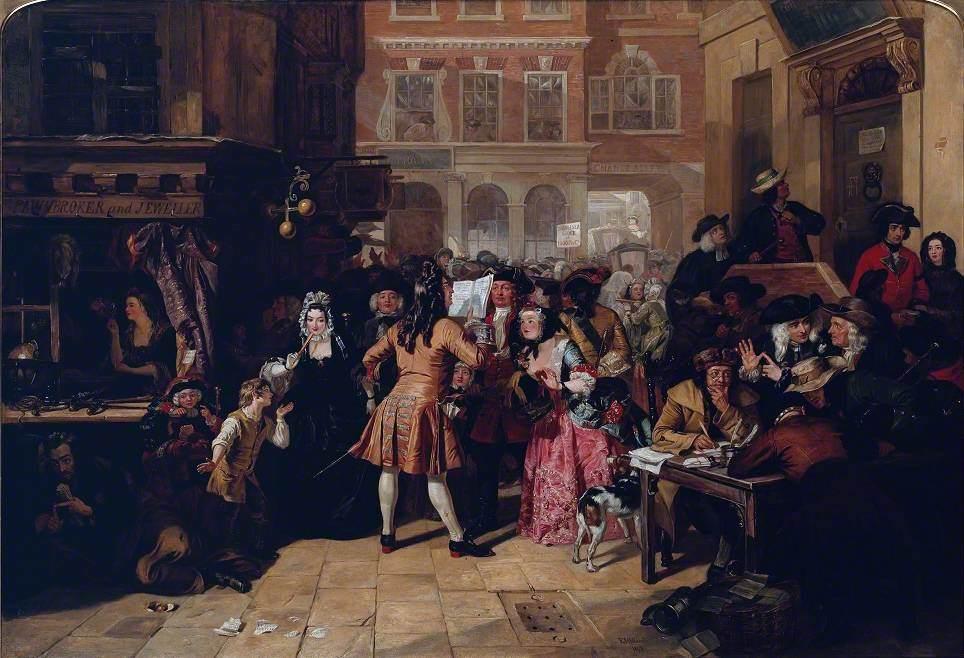 The South Sea Bubble, a Scene in 'Change Alley in 1720 - Wikidata