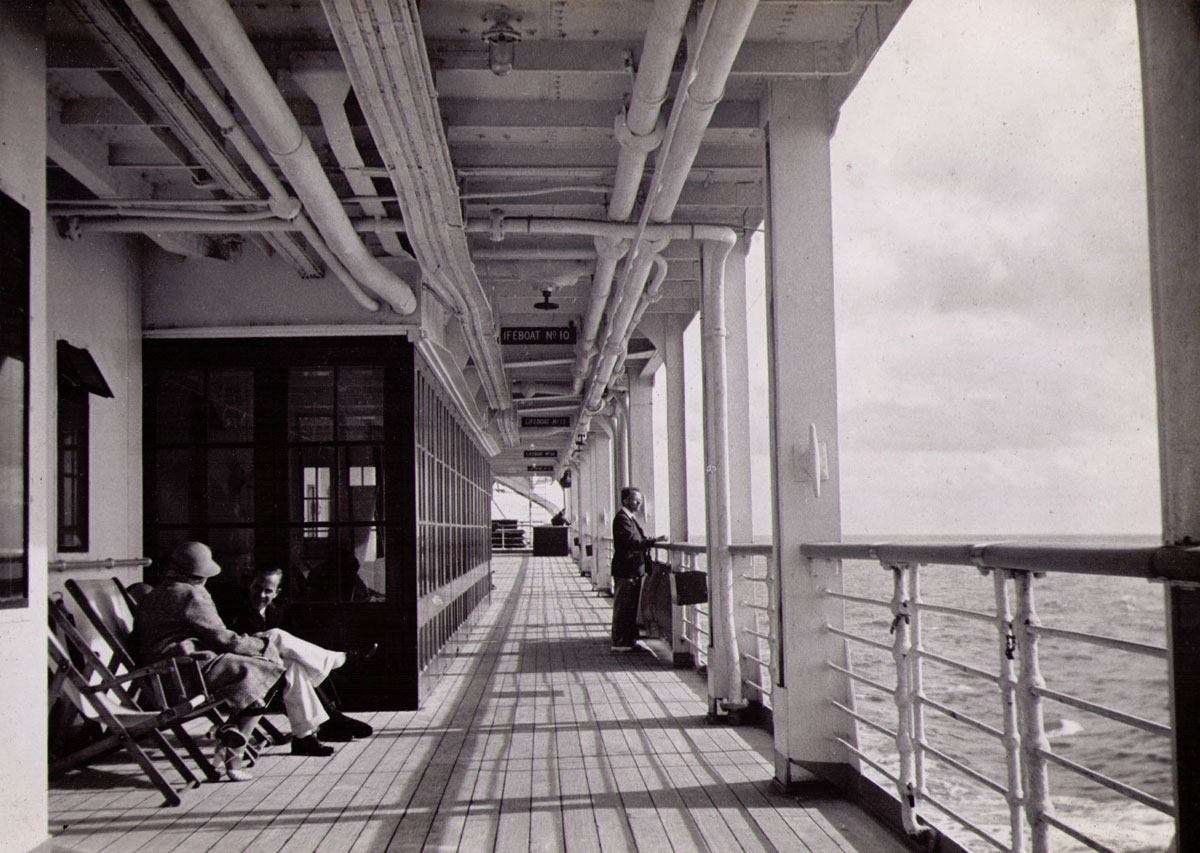 fileenjoying the promenade deck of rms strathnaver 1934