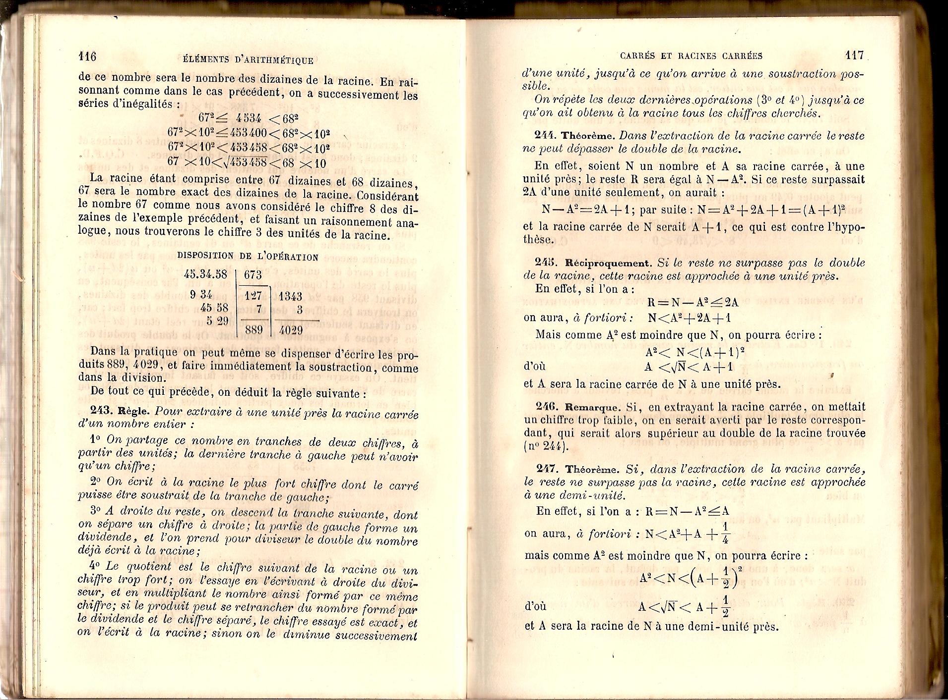 devoir maison de math 3eme racine carree