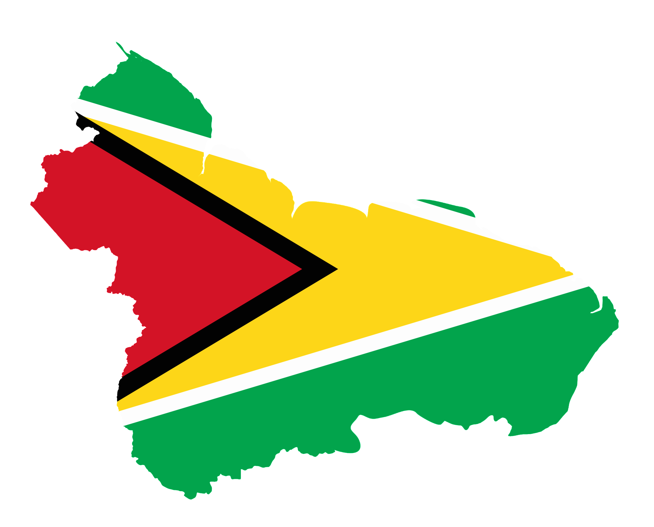 Map Of Guyana Showing Natural Resources