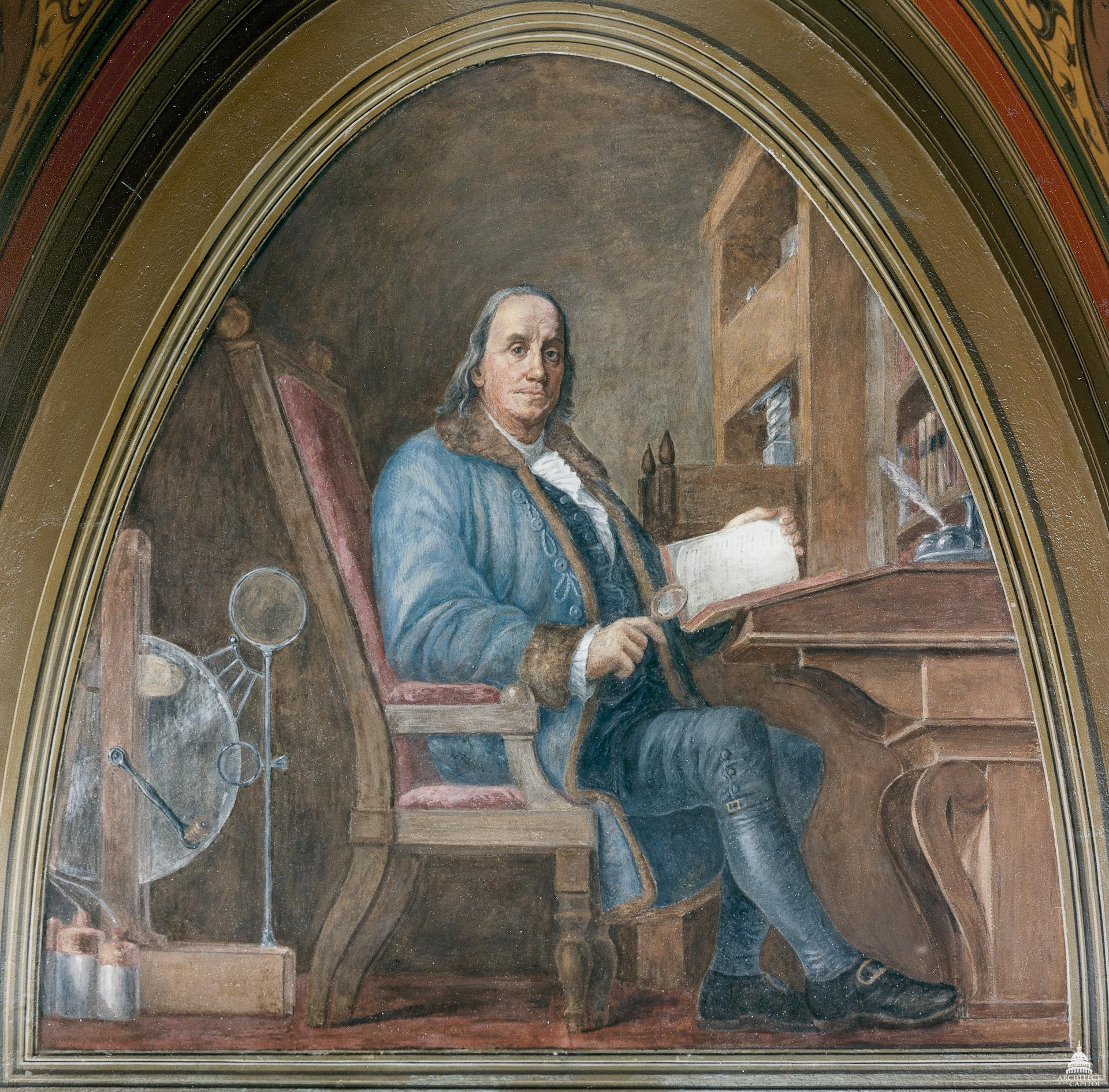 Benjamin Franklin, creator of the Join Or Die cartoon, via Wikimedia Commons.