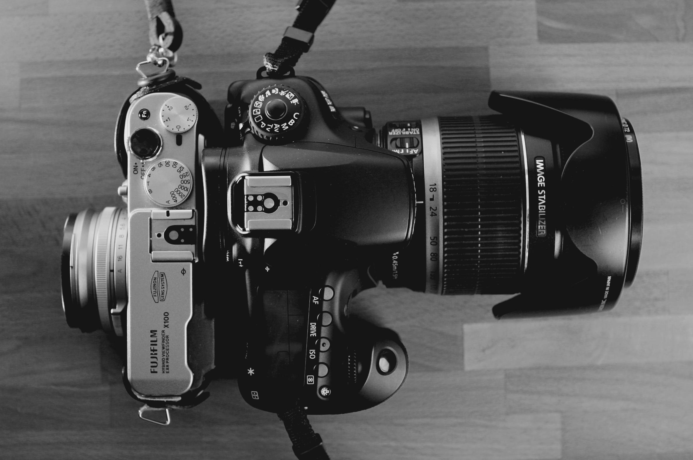 File:Fujifilm FinePix X100 and Canon EOS 60D with Canon EF-S 18