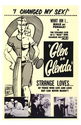 A film poster for Glen or Glenda