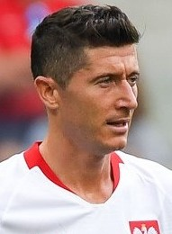 Lewandowski playing for Poland at the 2018 FIFA World Cup
