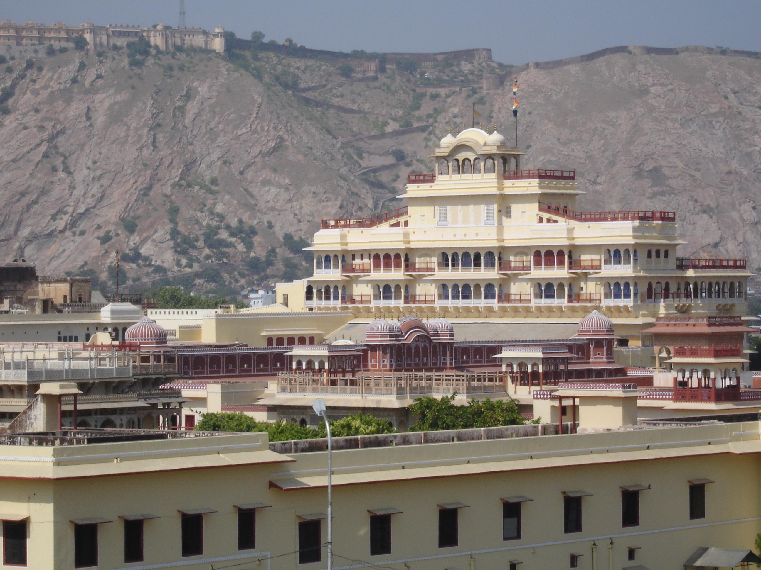 File:Jaipur.in City Palace, background Nahargarh Fort - panoramio.jpg