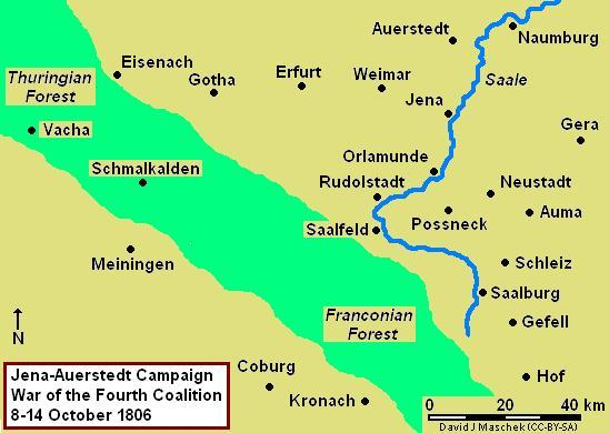 Jena-Auerstedt Campaign Map, 8-16 October 1806 Jena-Auerstedt 1806 Campaign Map.JPG