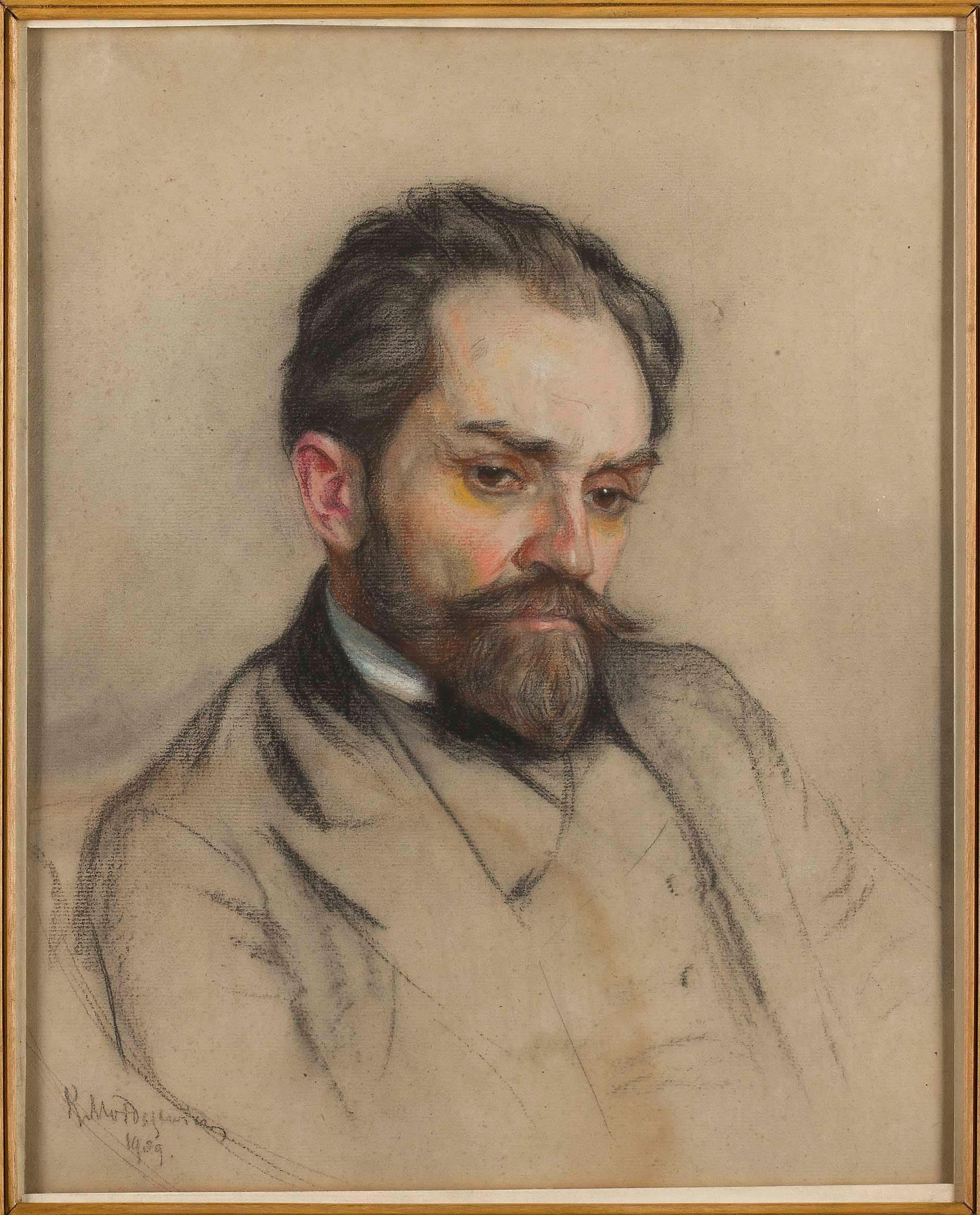 Żeromski ([[pastel]] by [[:pl:Kazimierz Mordasewicz Kazimierz Mordasewicz]], 1909)