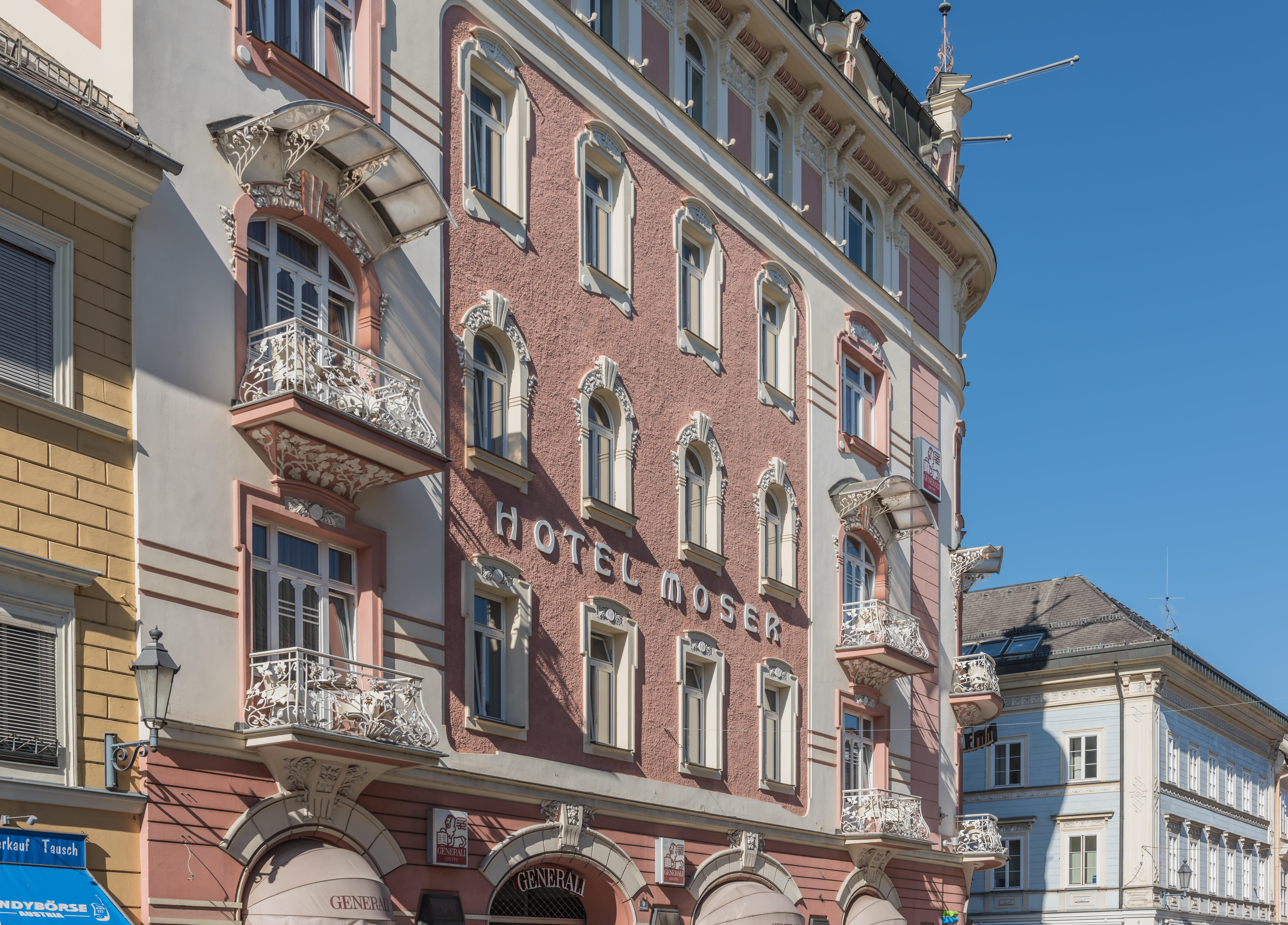 File:Klagenfurt Domgasse 2 Hotel Moser-Verdino SW-Ansicht 08082016 3578.jpg - Wikimedia Commons