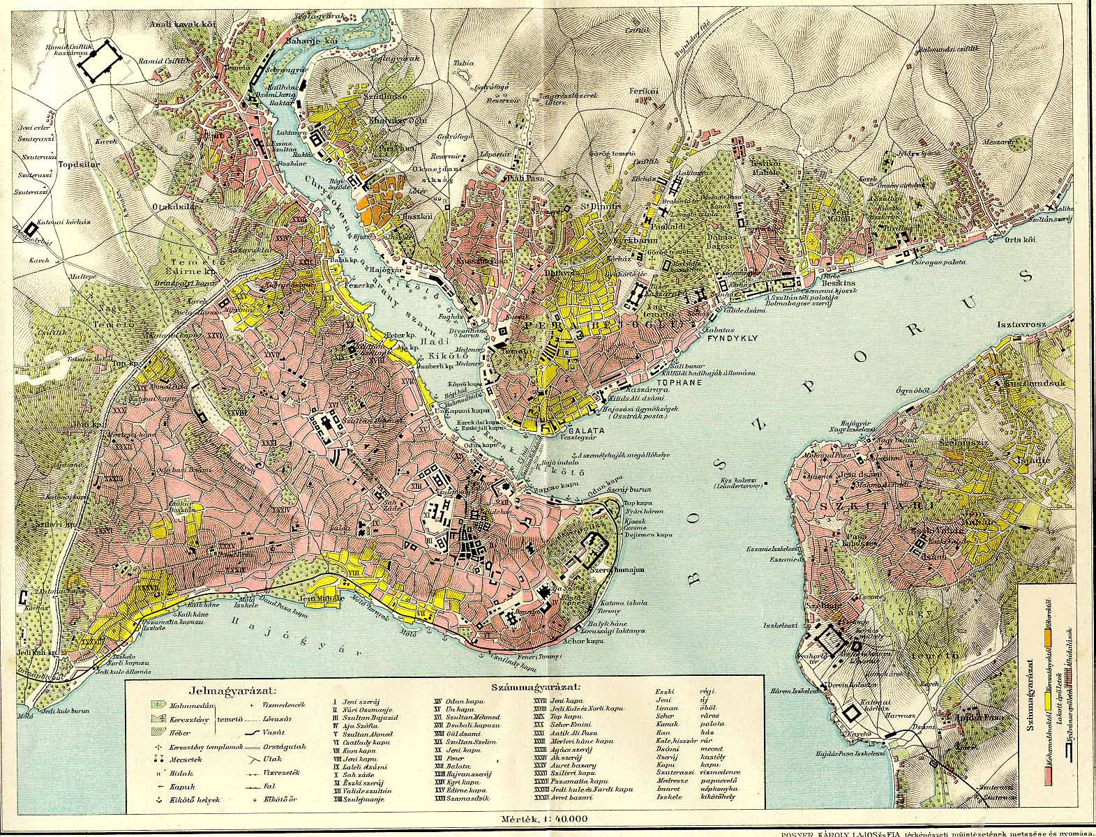 Religious/ethnic map of Constantinople/Istanbul in the late 19th ...