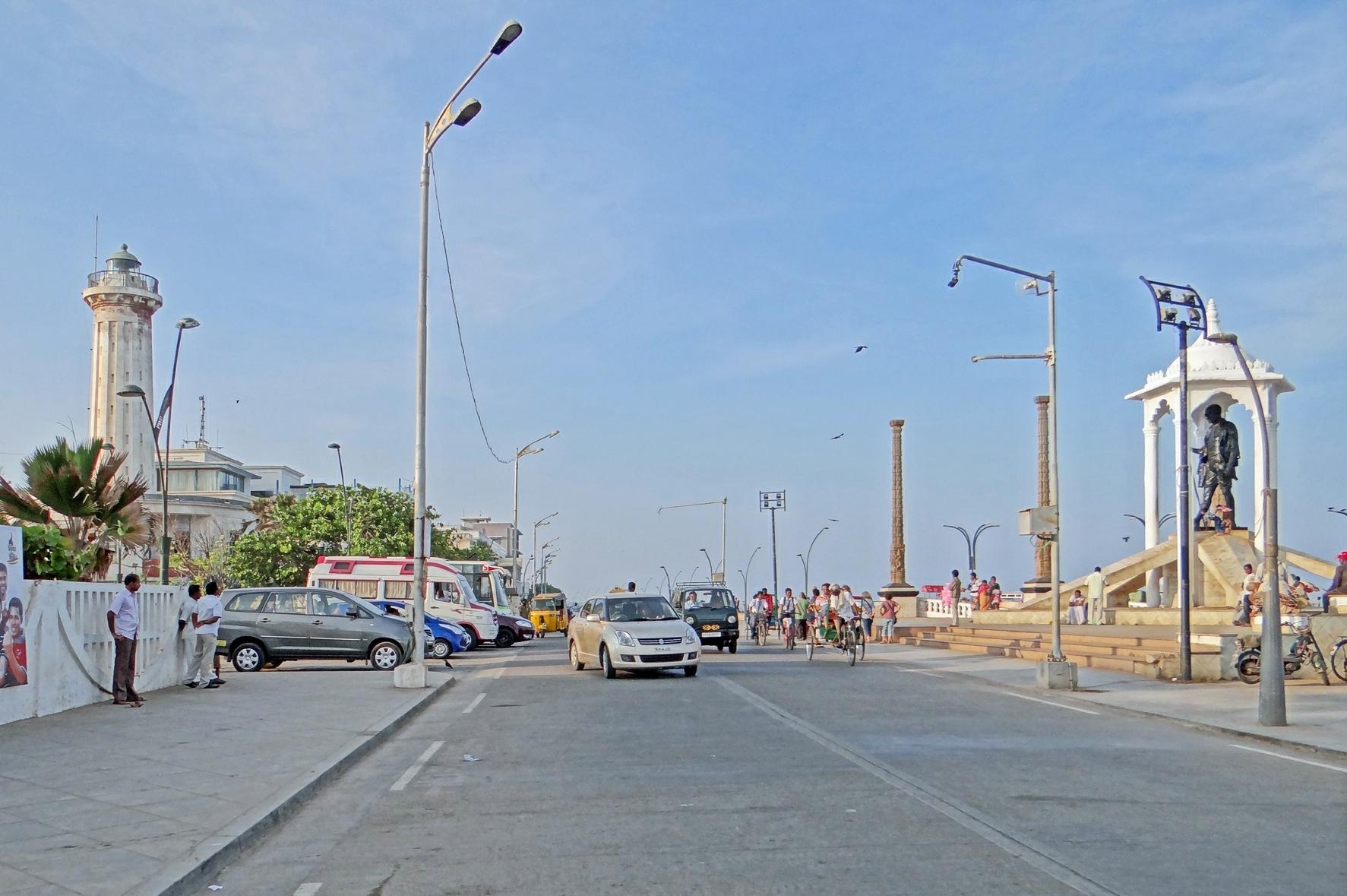 File La Promenade Du Bord De Mer Pondich Ry Inde