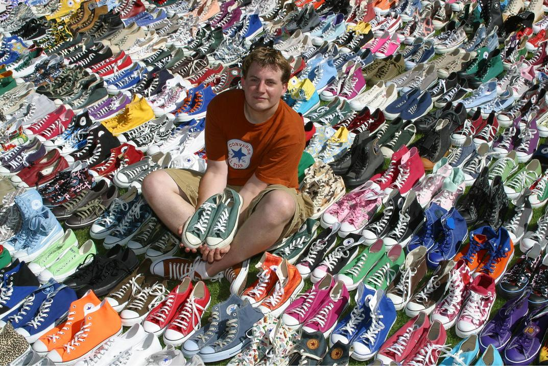 Description Largest collection of Converse All-Stars.JPG