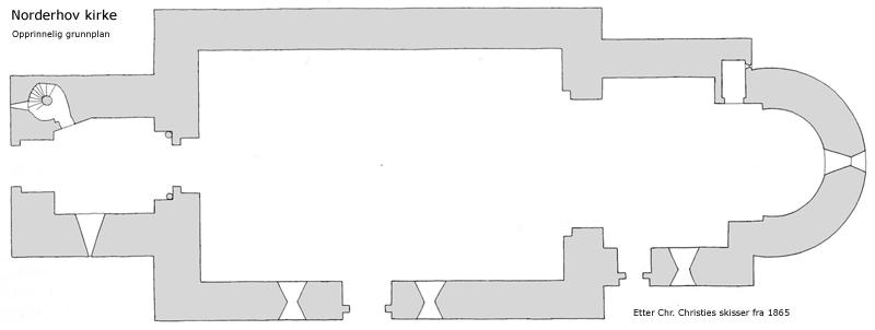 Norderhov Kirke Grunnplan Wikimedia Commons