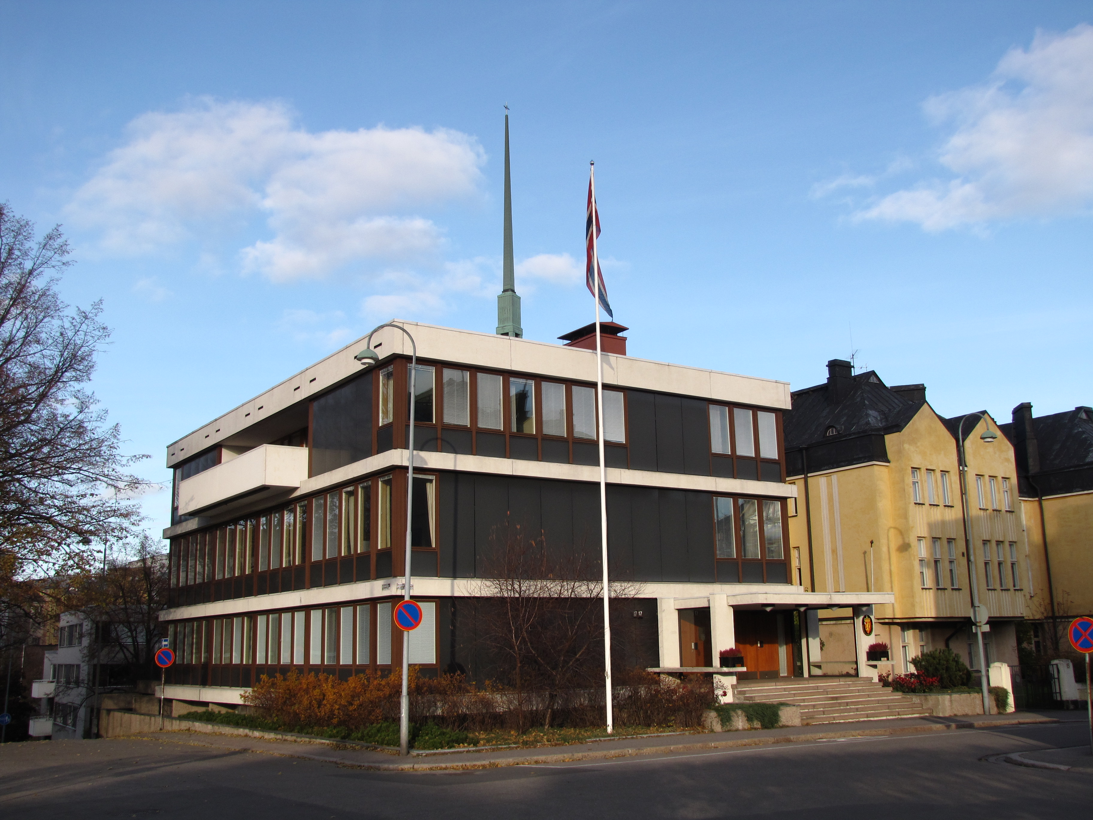 Russian embassy in norway russian has touched