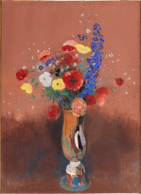 File odilon redon 1912c bouquet de fleurs des wikimedia commons - Bouquet de fleurs des champs ...