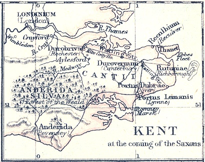 Old Map Of Island Of Thanet