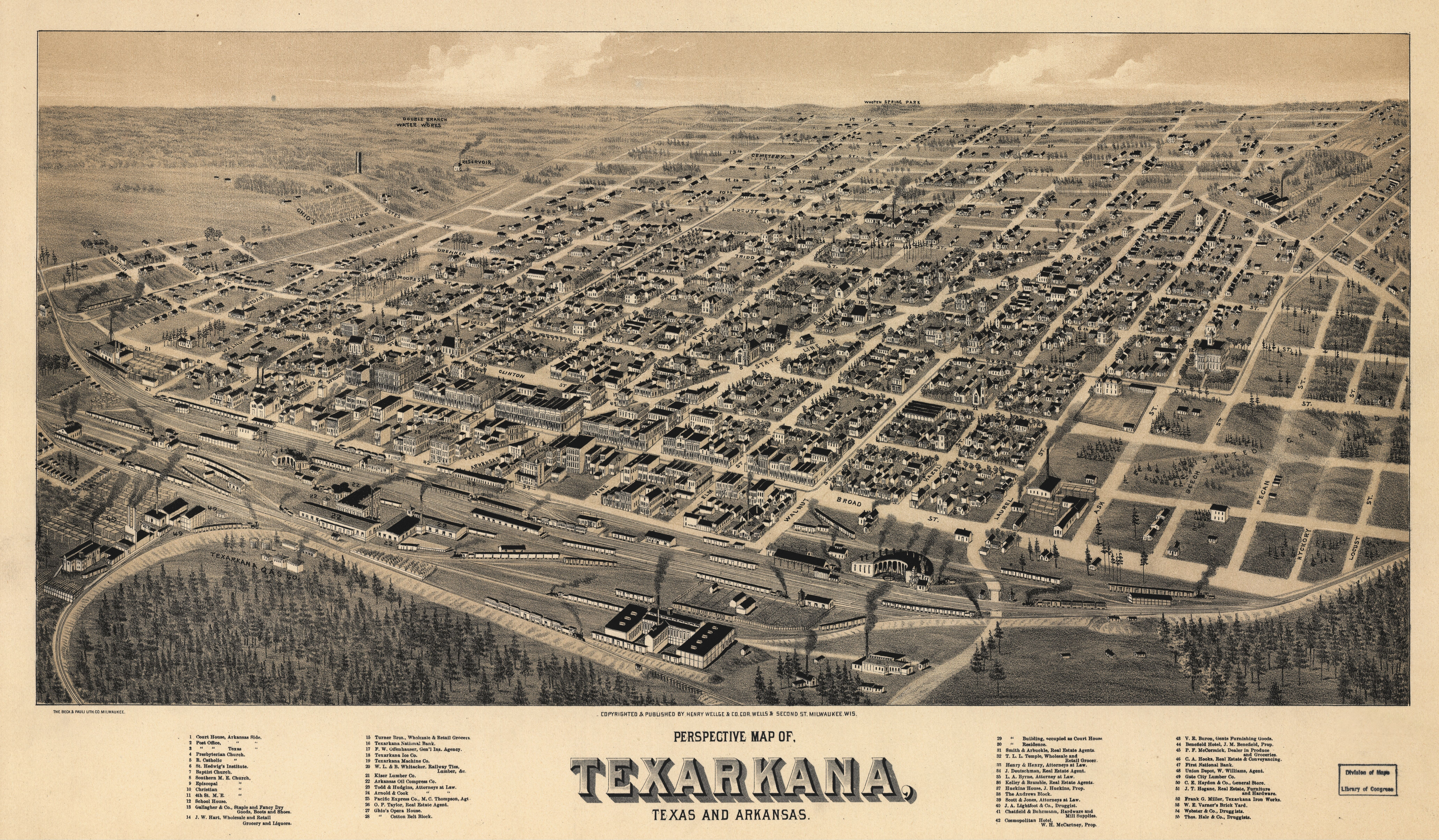 File:Old map-Texarkana-1888.jpg - Wikimedia Commons
