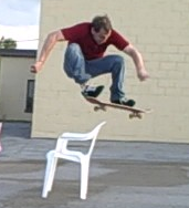 Sick Skateboard Trick Lube Pole